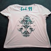 "T-shirt ""arabesco con strass"""