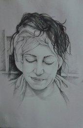 ritratto a matita in bianco e nero