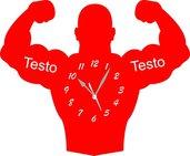 Orologio da Parete a Forma di Body Building Legno o Plexiglass