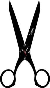 Orologio da Parete a Forma di Forbice Legno o Plexiglass