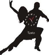 Orologio in Legno o Plexiglass da Parete a Forma di Ballerini2