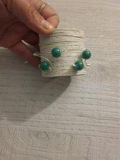 bracciale perle verdi