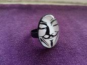 *Anello con cabochon di V For Vendetta - V For Vendetta ring*