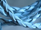 1 m. Cordino intrecciato tondo in eco pelle azzurro FCO 3