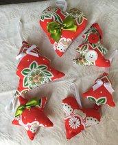Set sacca multiuso-decorazioni Natale verde/rosso