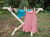 Stendibiancheria per bambini, stendibiancheria montessori, stendibiancheria in legno, regalo montessori, regalo bimbi