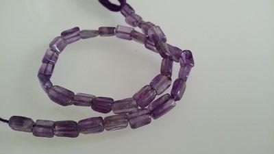 Filo di perline di ametista forma rettangolare