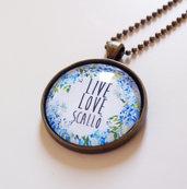 Collana Live Love Scallò variante azzurra