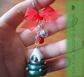 Portachiavi alberello natalizio ^^