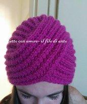 Cappello turbante in pura lana 100%