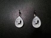 *Orecchini con gatto nero - Black cat earrings*