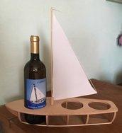 Barca a vela portabottiglie