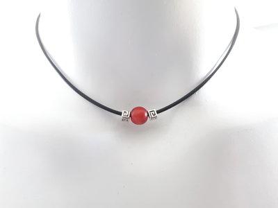 Collana Coreano cerato - Legno rosso