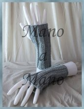 Scaldamani cotone&lana merino - Grigio chiaro