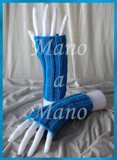 Scaldamani cotone&lana merino - Turchese