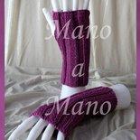Scaldamani cotone&lana merino - Viola