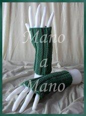 Scaldamani cotone&lana merino - Verde