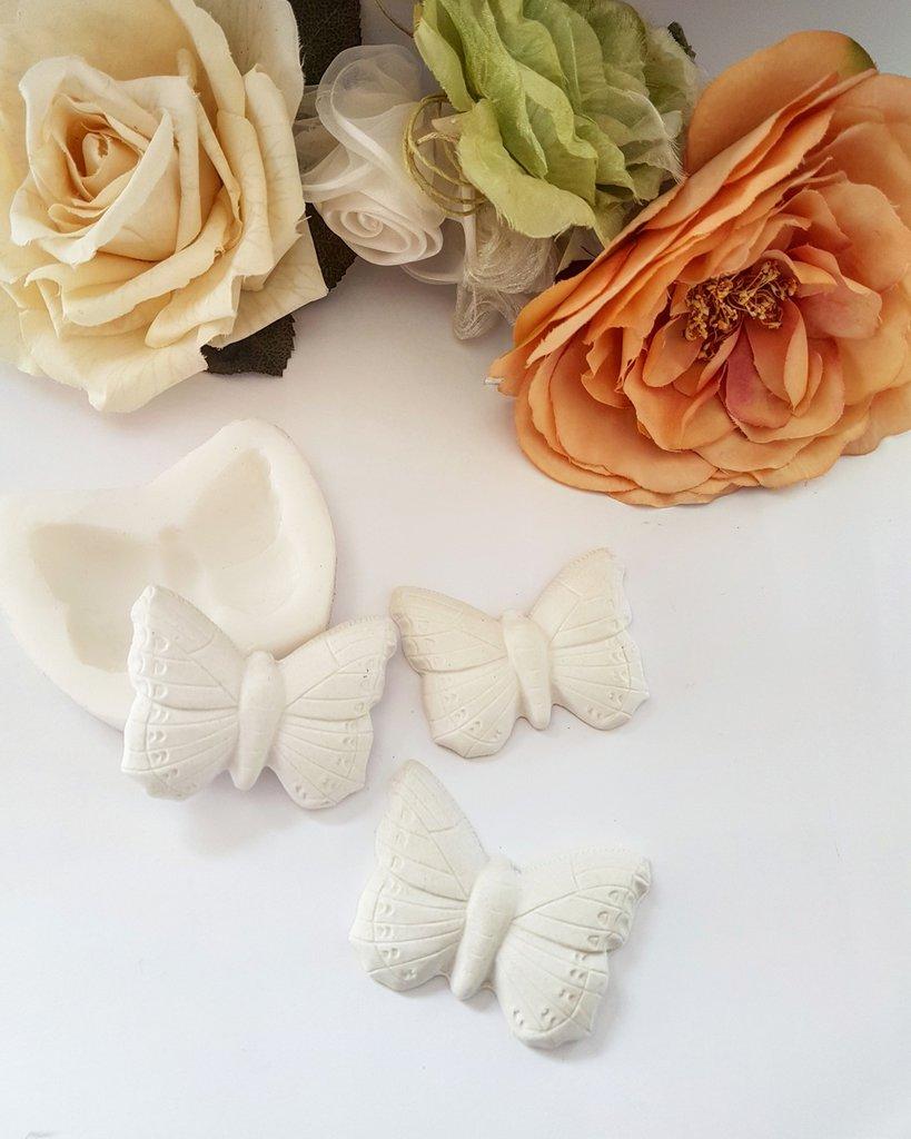 Stampo In silicone per gesso e resina farfalla