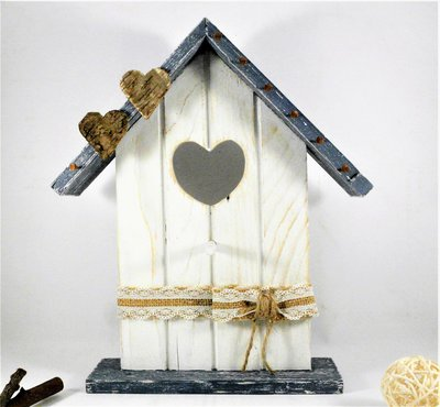 appendi chiavi, portachiavi a forma di casetta, decorazione murale o porta bijoux da poggiare, riciclo creativo - misura grande