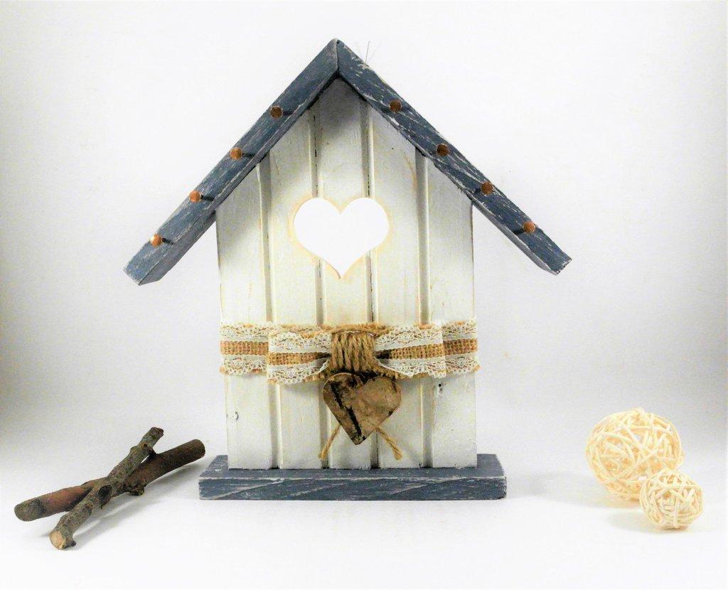 appendi chiavi a forma di casetta in legno, con corda di iuta, decorazione murale o da poggiare, riciclo creativo, appendi bijoux