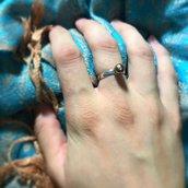 Anello perla - Bronzo