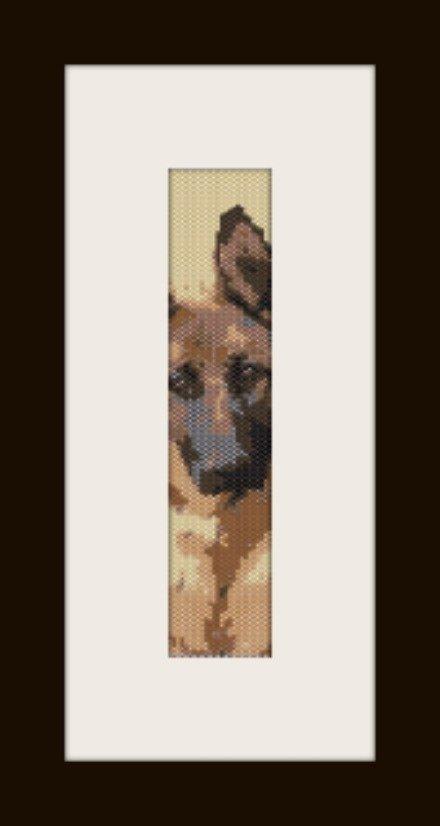 PDF schema bracciale Pastore Tedesco in stitch peyote pattern - solo per uso personale