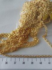 1 Metro catenella catena per bigiotteria tono oro, metallo