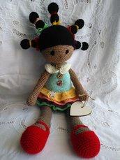 Amigurumi bambola in lana