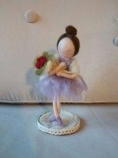 Ballerina in lana cardata e tulle
