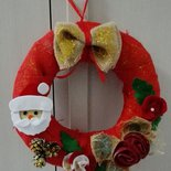 Ghirlanda natalizia con Babbo Natale