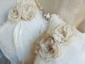Cuscini romantici con rose realizzate a mano