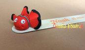 Segnalibri decorati con il piccolo Nemo realizzato a mano in fimo.