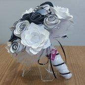 Bouquet fiori carta Bianco Nero