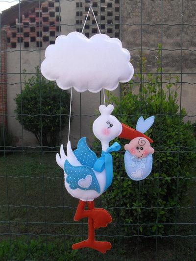 Fiocco nascita...una cicogna porta un bambino