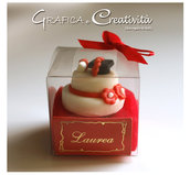 Bomboniera mini cake laurea