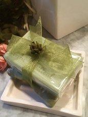 Sapone naturale provenzale al Tiglio con cuscino Toile de joui francese, saponi bio, saponetta