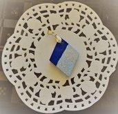 Ciondolo in ceramica Rombo Celeste
