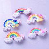 Molletta arcobaleno bimbi