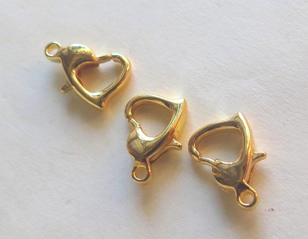 6 Chiusure per collane e braccialetti cuore   FER 42