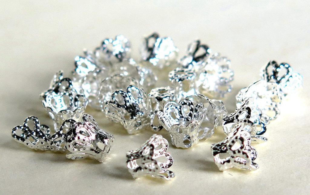20 capsule per perle argentate  FER 52