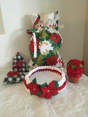 Set decorazione regali Natale sacca