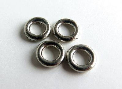 Anellini argento acrilico chiusi 6 mm  FER 73