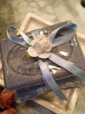 Sapone provenzale di violetta con cuscinetto damascato