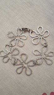 Bracciale fiori in alluminio