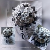 Bouquet con  fiori di carta personalizzabile