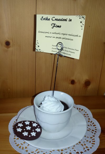 Portafoto Tazza di Cioccolata calda con panna e Pan di Stelle