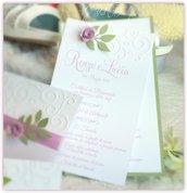 Menù di nozze elegante  - Rose