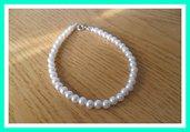 Bracciale perline bianche