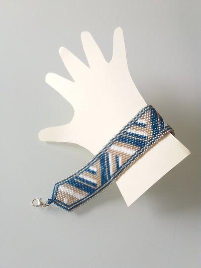 Braccialetto  Blu Bianco Oro