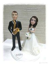 Cake topper sposi musicisti